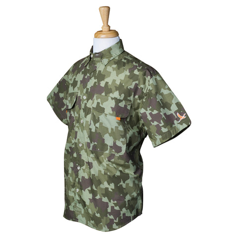 Old Tejas Camo Field Shirt - Olive