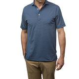 All-Day Stripe Performance Polo - Navy/White