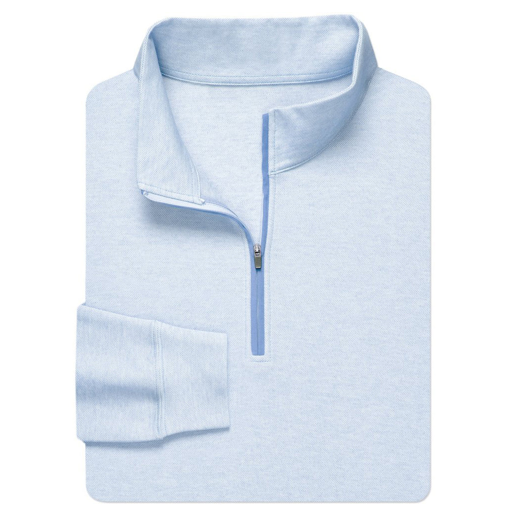 Oxford Quarter-Zip Pullover - Sky