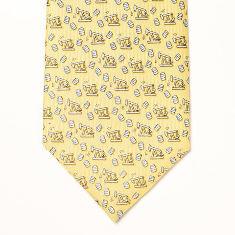 Thirsty Birds Tie - Yellow