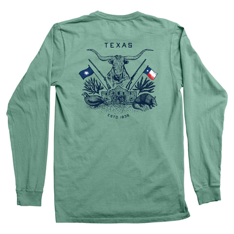 Texas Crest Long-Sleeve Pocket T-Shirt - Pine