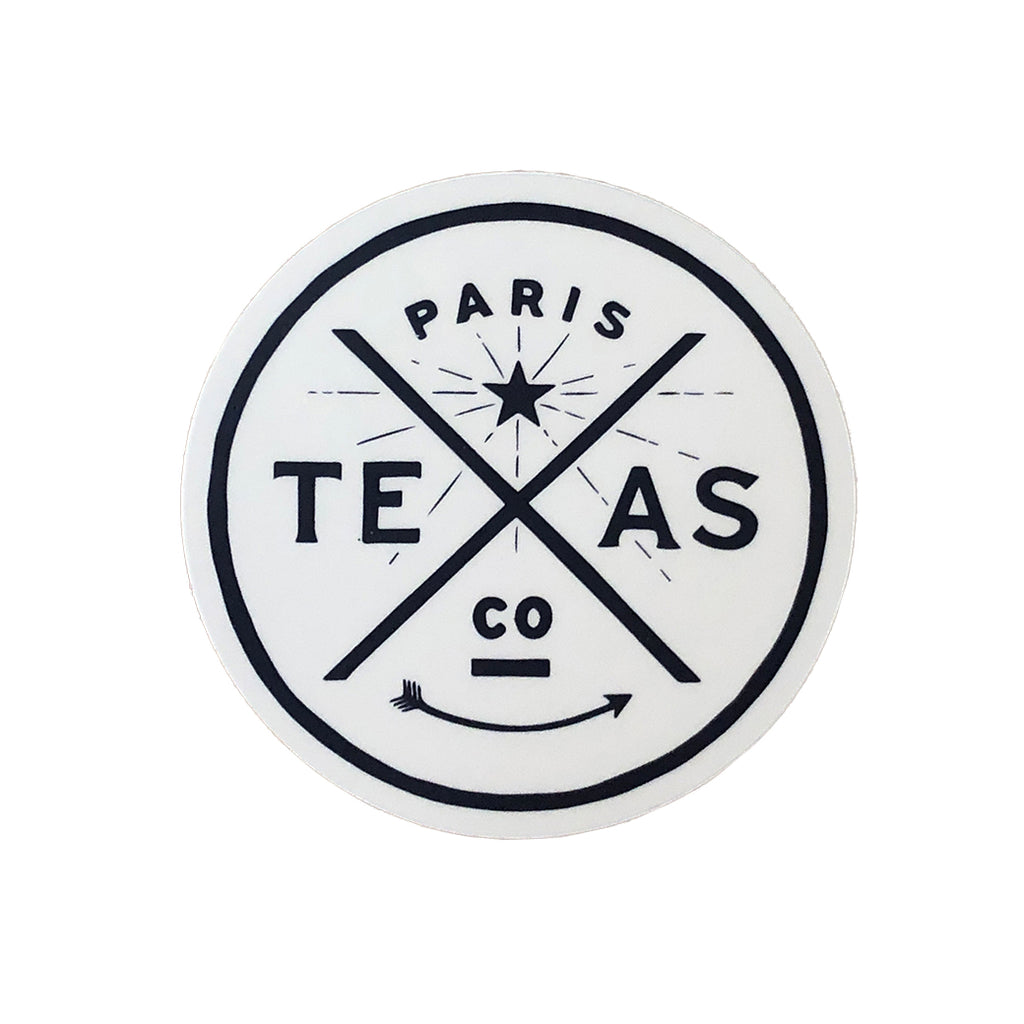 Paris Texas Circle Decal
