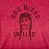 God Bless Willie T-Shirt - Cardinal