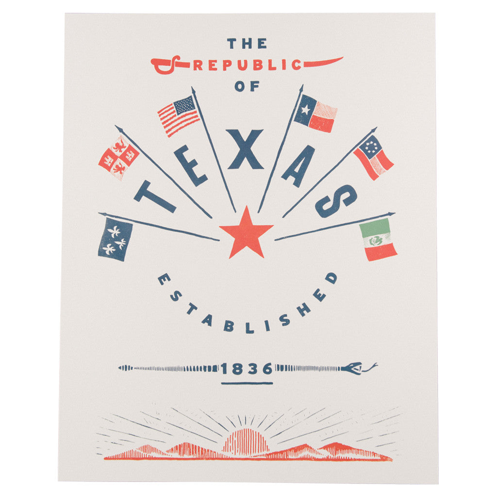 Republic of Texas Wall Art Print