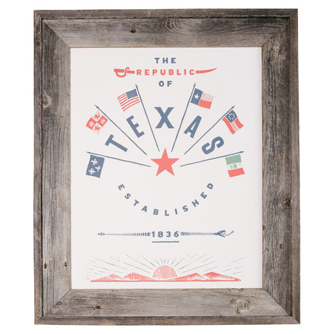Republic of Texas Print