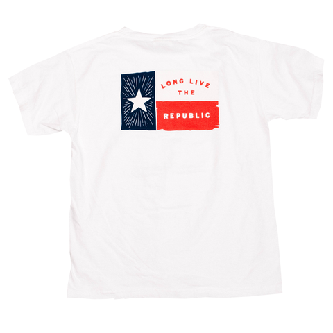 Boys Lone Star Flag T-Shirt - White
