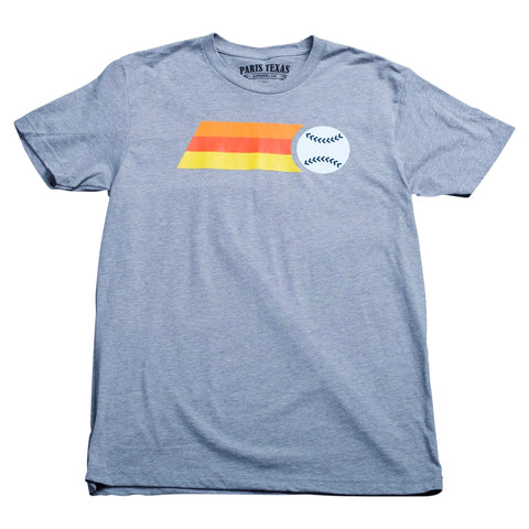 Retro Astros Fastball T-Shirt - Heather Grey