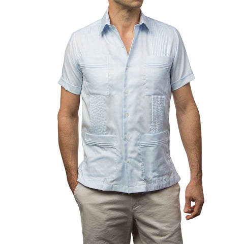 Dictator Guayabera - Light Blue Woven
