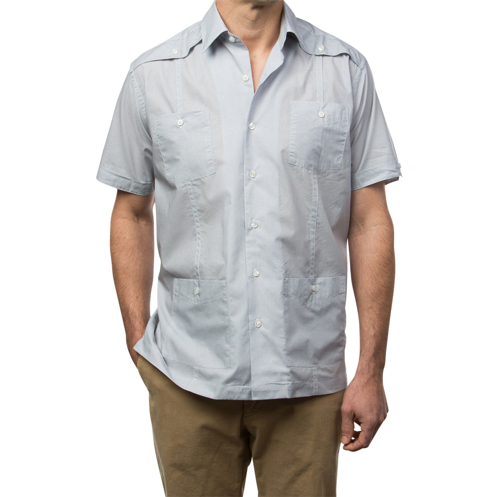 El Guapo Guayabera Shirt, Mexican Shirt for Men - Azul