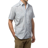 El Guapo Guayabera Shirt, Mexican Shirt for Men - Azul 3