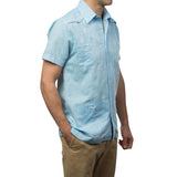 El Guapo Guayabera - Light Blue Linen