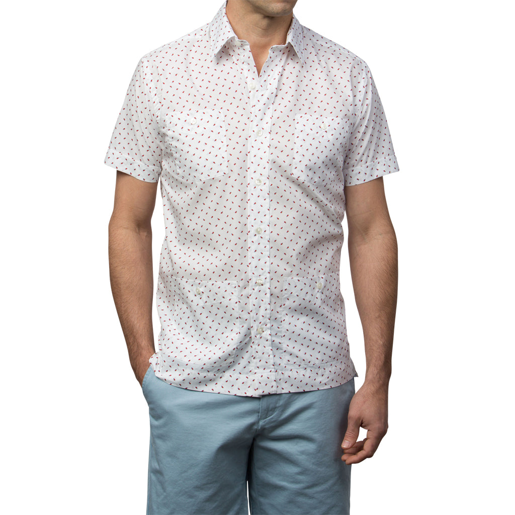 El Presidente Guayabera, Mexican Shirt for Men - Popsicle
