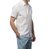 El Presidente Seersucker Guayabera, Mexican Shirt for Men - White 2