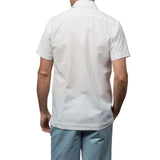 El Presidente Seersucker Guayabera, Mexican Shirt for Men - White 3