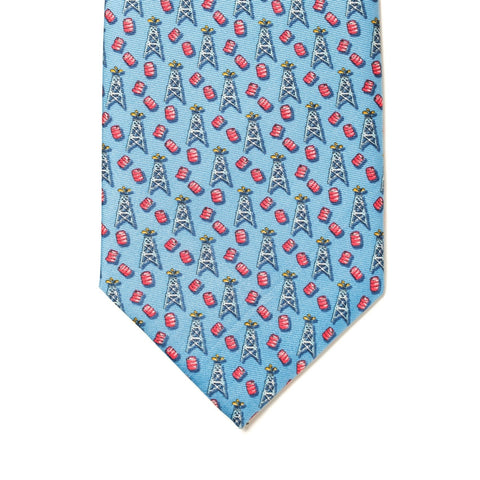 Spindletop Tie - Light Blue