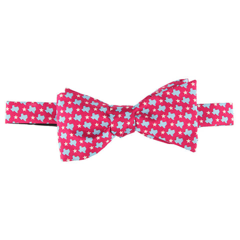 States & Stars Bow Tie - Red