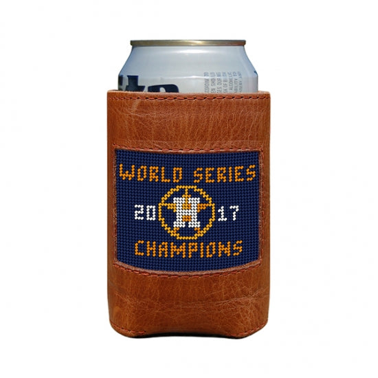 Houston Astros World Series Needlepoint Can Cooler