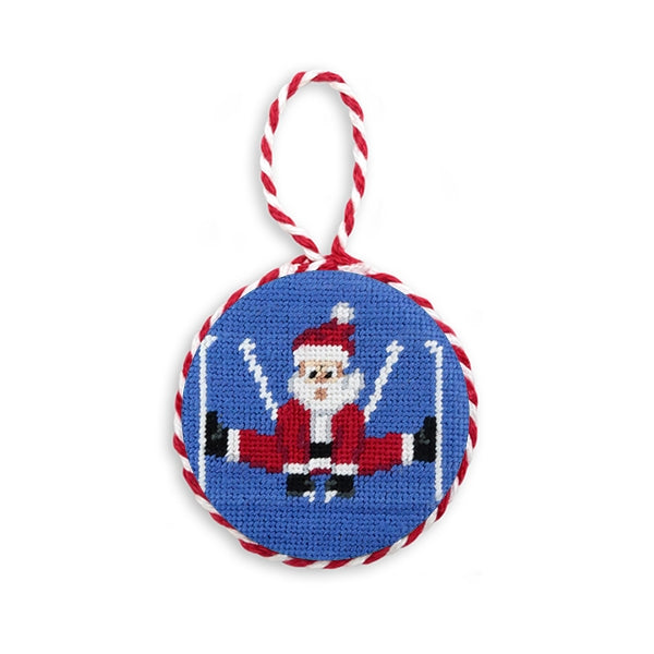 Smathers_and_Branson_Skiing_Santa_Needlepoint_Ornament