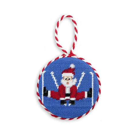 SMU Needlepoint Ornament