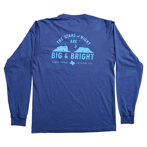 Stars at Night Long-Sleeve Pocket T-Shirt - Navy