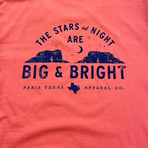 Stars at Night Pocket T-Shirt - Coral