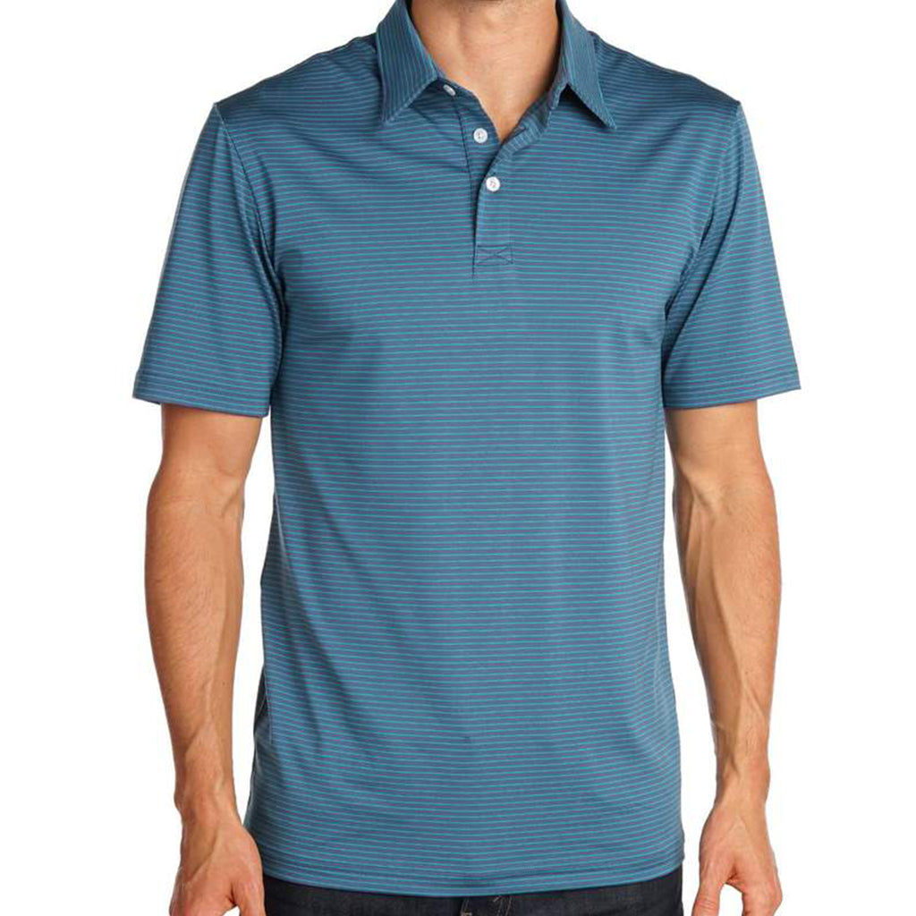 Stewart Stripe Tour Ace Polo Navy