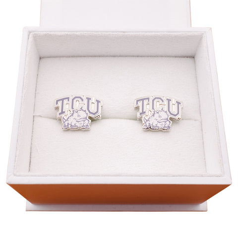 TCU Horned Frog Cufflinks