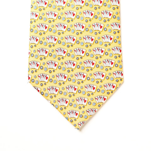 Texas Hold'em Tie - Yellow