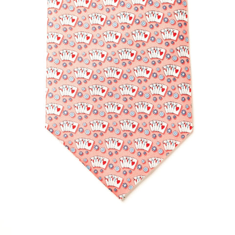 Texas Hold'em Tie - Pink