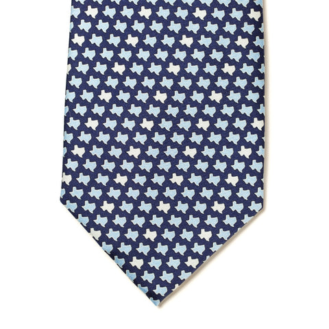 Texas States Tie - Navy - Extra Long