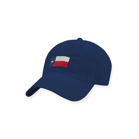 American Flag Rope Snapback Hat - Navy/White