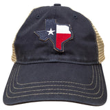 Texas State Flag Trucker Hat Navy/Khaki
