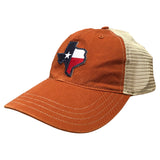 Texas State Flag Trucker Hat Orange/Khaki