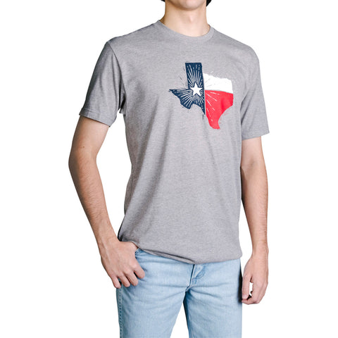Texas State Flag T-Shirt - Heather Gray