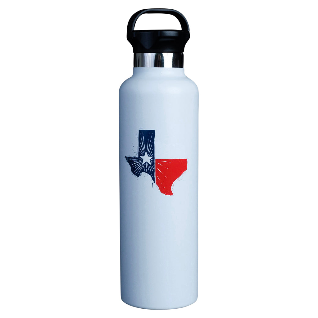 Texas State Flag Water Bottle