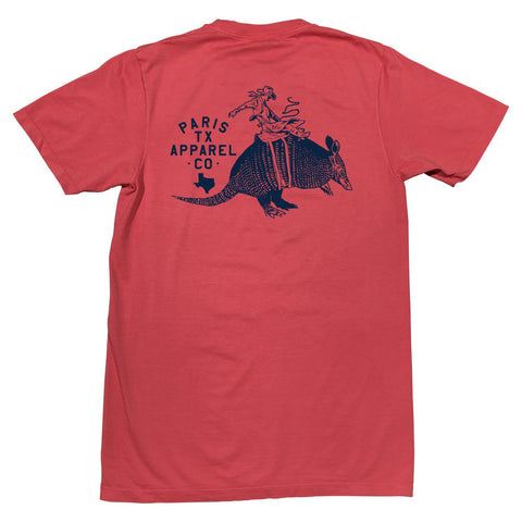 Armadillo Cowboy Pocket T-Shirt - Brick