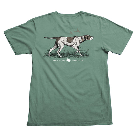 Pointer Hunting Dog Pocket T-Shirt - Pine