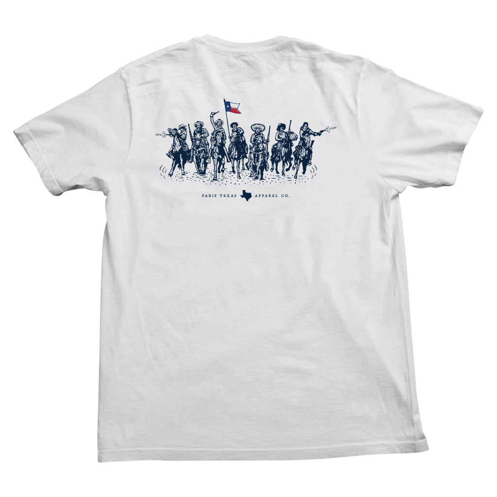 Texas Charge Pocket T-Shirt - White