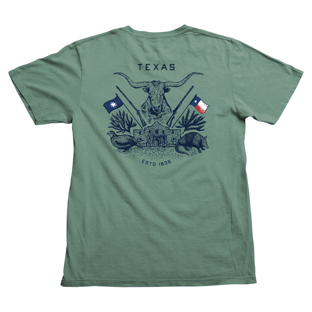 Texas Crest Pocket T-Shirt - Pine