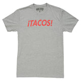 Tacos Texas T-Shirt - Gray - Vintage Texas Theme Shirt