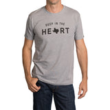 Deep in the Heart T-Shirt - Heather Gray