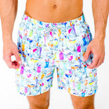 Tropical Treats Cyclist Swim Trunks - Multi