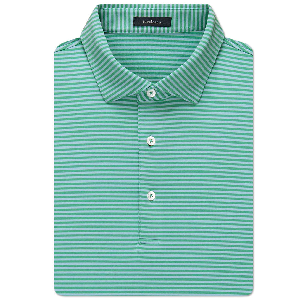 Turtleson Edward Stripe Performance Shirt - Lagoon/Sky