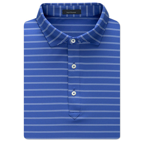 Hank Stripe Performance Polo - Marine