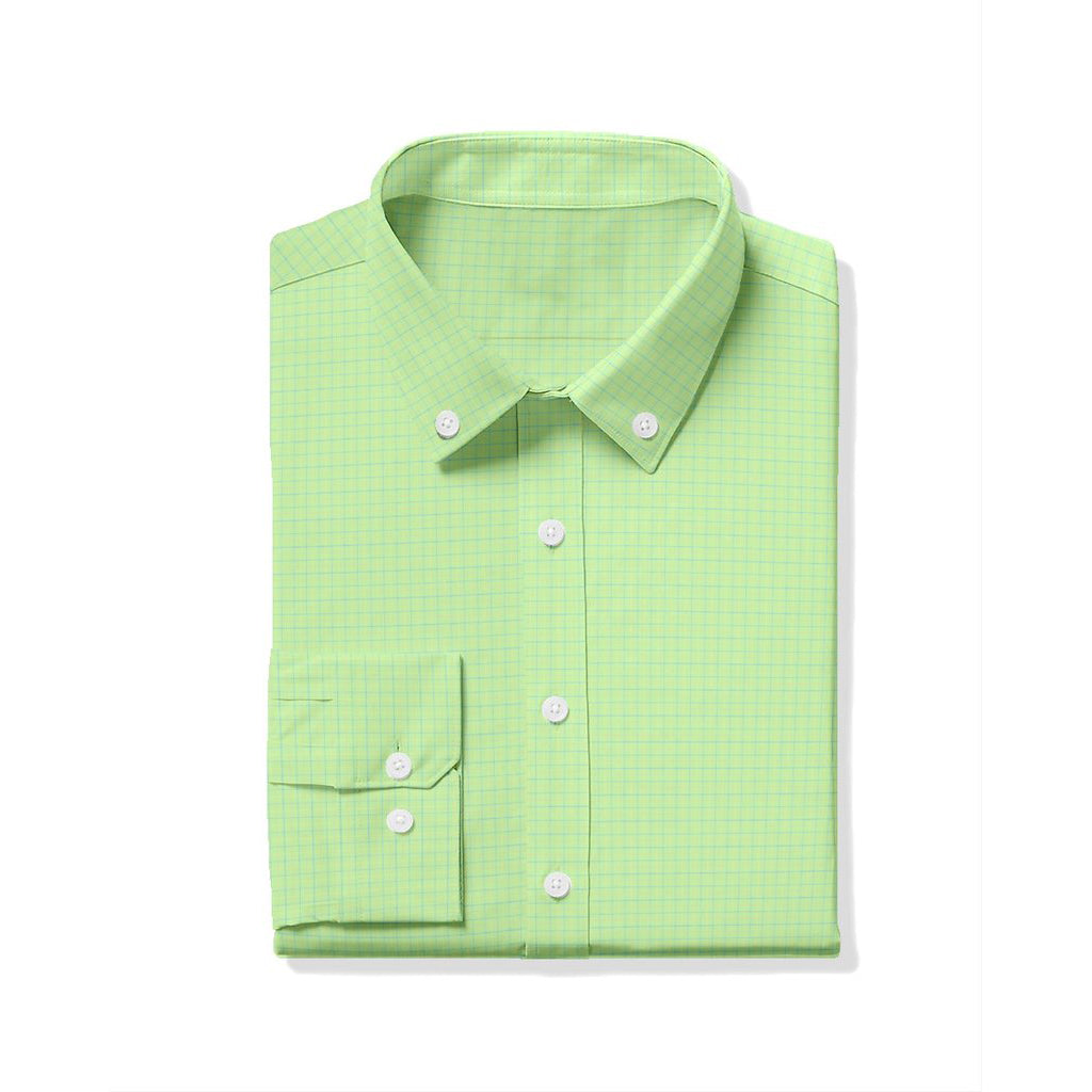 Turtleson_Hill_Oxford_Tattersall_Sport_Shirt_Lime