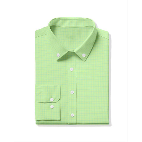 Hill Oxford Tattersall Sport Shirt - Lime