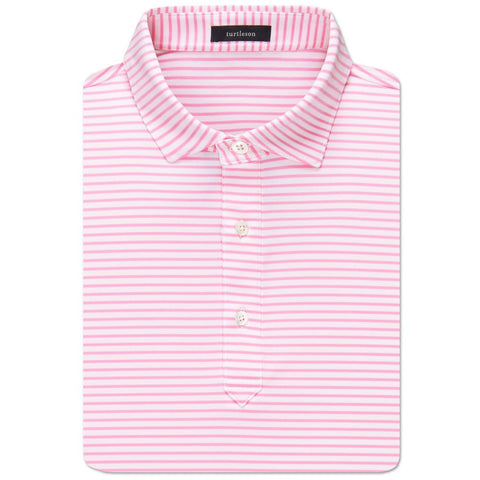 Jeff Stripe Performance Polo - Orchid