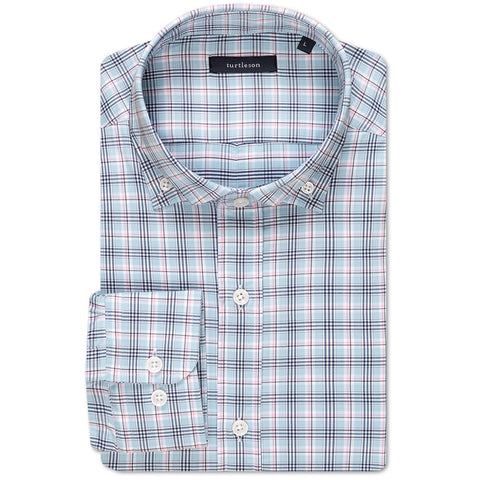 Richard Multi-Tattersall Shirt - Sky