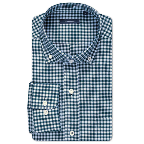 William Check Sport Shirt - Navy