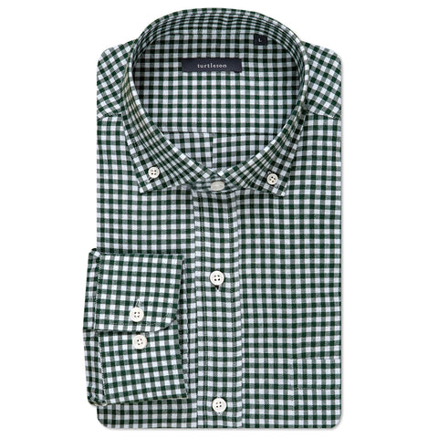 William Check Sport Shirt - Pine